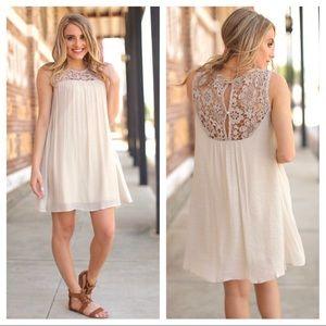 Infinity Raine NEW | crochet lace shift dress